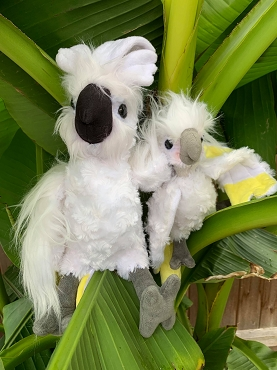Lucky & Coco Stuffed Cockatoo Toys