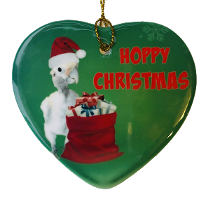 Lucky Lou Coco Too Hoppy Christmas Porcelain Ornament