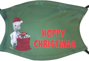 Lucky Lou Coco Too Hoppy Christmas Mask