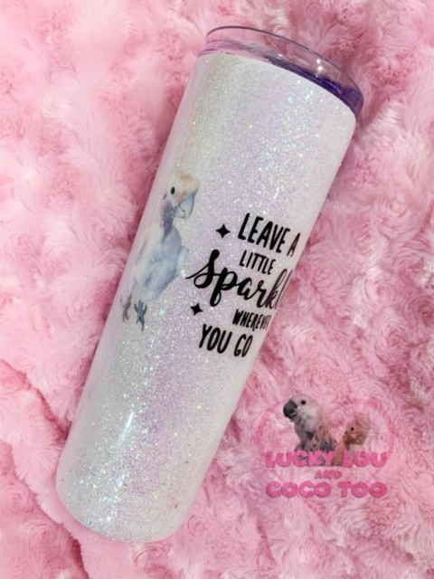 ~ Leave a Little Sparkle Wherever You Go ~ Coco Glitter Tumbler Cup